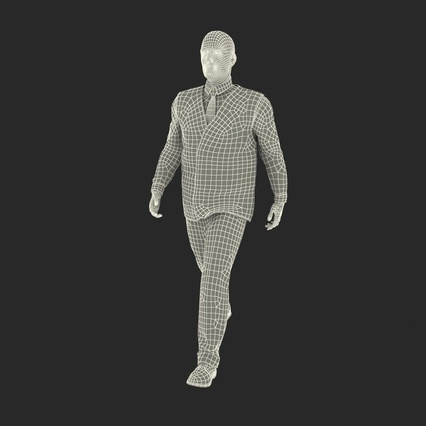 Port Engineer Walking Pose. Render 4