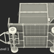 Airport Luggage Trolley with Container Rigged. Preview 27