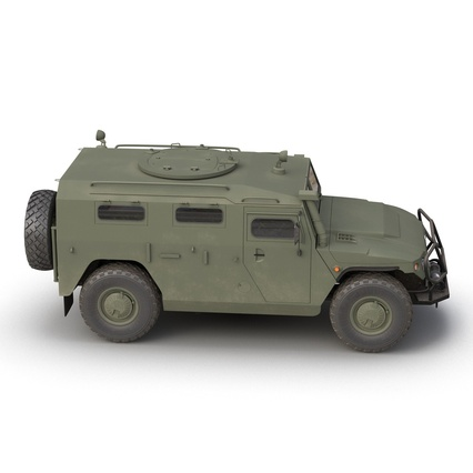 Russian Mobility Vehicle GAZ Tigr M Rigged. Render 16