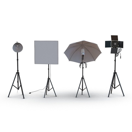 Photo Studio Lamps Collection. Render 7