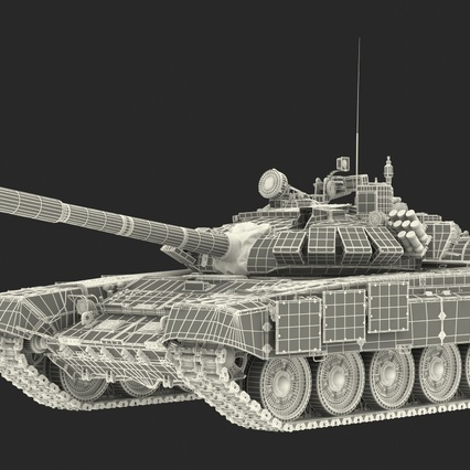 T72 Main Battle Tank Camo Rigged. Render 23