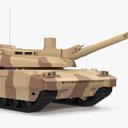 French Army Tank AMX-56 Leclerc Rigged. Preview 2
