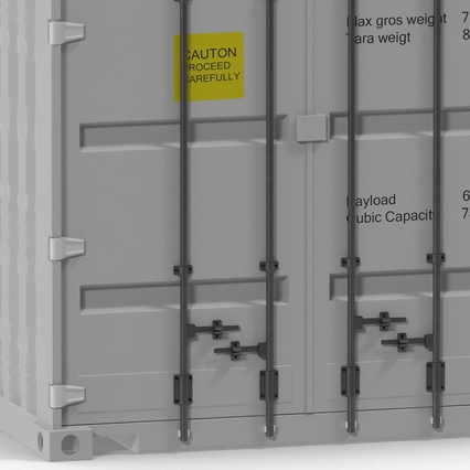 40 ft High Cube Container White. Render 24