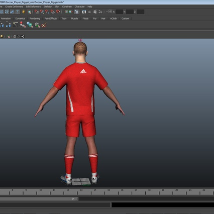 Soccer Player Rigged for Maya. Render 36