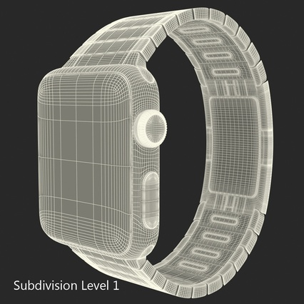 Apple Watch 38mm Link Bracelet Dark Space 2. Render 31