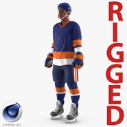 Hockey Player Generic 5 Rigged for Cinema 4D