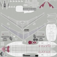 Jet Airliner Airbus A330-300 Qatar Rigged. Preview 53