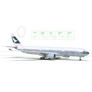 Jet Airliner Airbus A330-300 Cathay Pacific Rigged. Preview 5