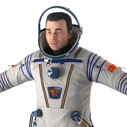 Russian Astronaut Wearing Space Suit Sokol KV2 Rigged for Maya. Render 23