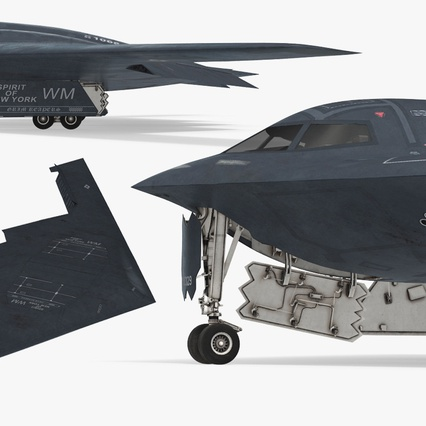 Stealth Bomber B-2 Spirit Rigged. Render 12