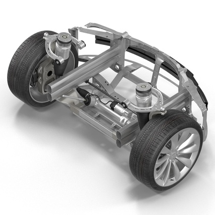 Tesla Model S Frame and Chassis. Render 27