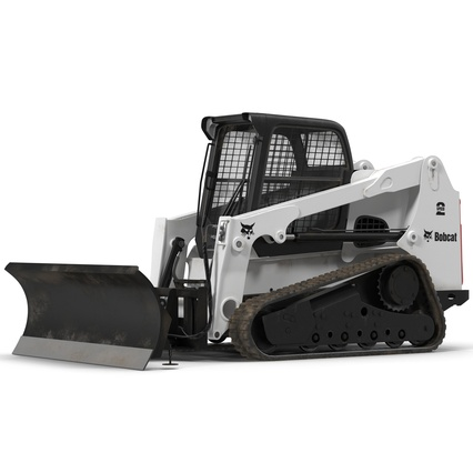 Compact Tracked Loader Bobcat With Blade. Render 2