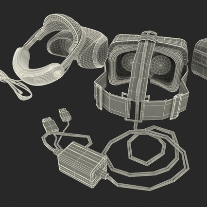 Virtual Reality Goggles Collection. Render 101