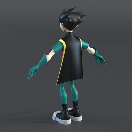 Robin Cartoon Character Rigged for Maya. Render 12