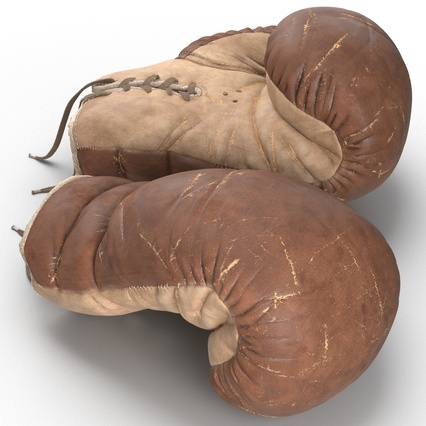 Old Leather Boxing Glove(1). Render 15