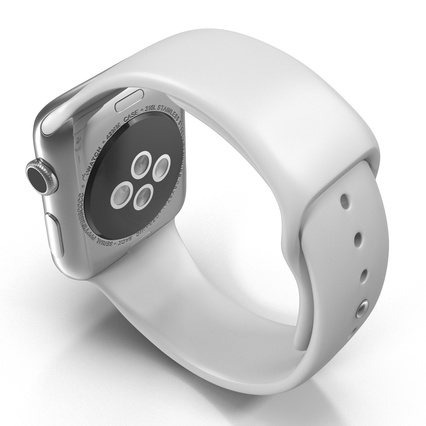 Apple Watch Sport Band White Fluoroelastomer 2. Render 13