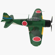 Fighter Aircraft A6M Zero Japanese Navy WWII Rigged