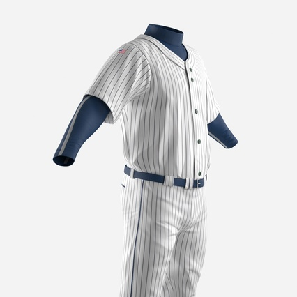 Baseball Player Outfit Generic 8. Render 16