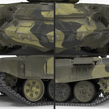 T72 Main Battle Tank Camo Rigged. Render 14