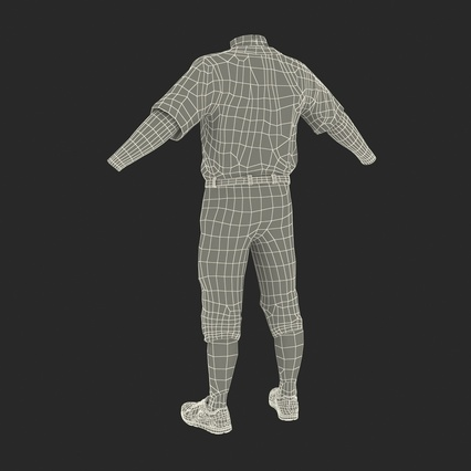 Baseball Player Outfit Athletics 3. Render 36