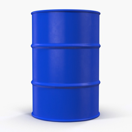 Oil Drum 200l Blue. Render 5