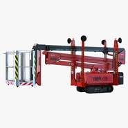 Telescopic Boom Lift Red 2