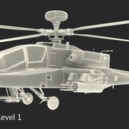 AH-64D Apache Longbow Japan Rigged. Preview 24