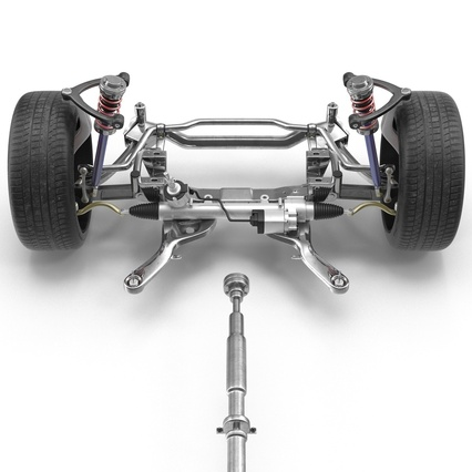 Sedan Chassis. Render 24