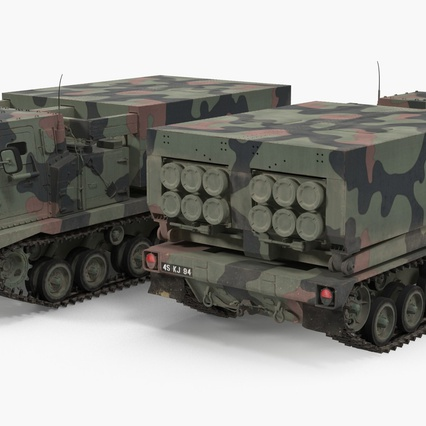 US Multiple Rocket Launcher M270 MLRS Camo. Render 11