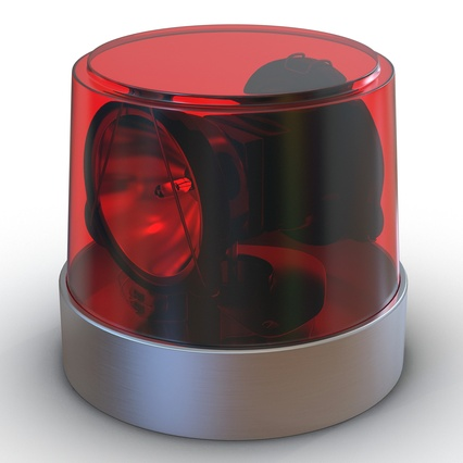 Warning Light Red. Render 2