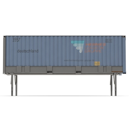 Swap Body Container ISO Blue. Render 9