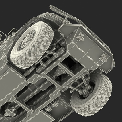 Russian Mobility Vehicle GAZ Tigr M Rigged. Render 82