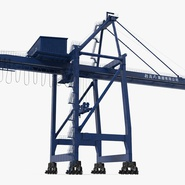 Container Crane Blue. Preview 6