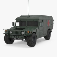 Ambulance Military Car HMMWV m996