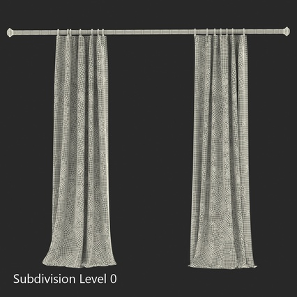 Curtains Collection. Render 62