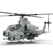 Attack Helicopter Bell AH 1Z Viper Rigged. Preview 20