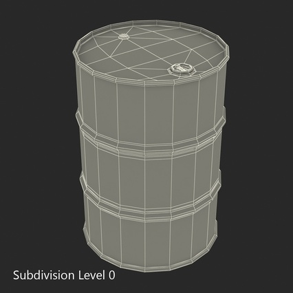 Oil Drum 200l Blue. Render 12