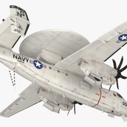 Grumman E-2 Hawkeye Tactical Early Warning Aircraft Rigged. Preview 16