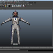 Russian Astronaut Wearing Space Suit Sokol KV2 Rigged for Maya. Preview 48