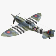 Royal Air Force Fighter Supermarine Spitfire LF Mk IX Rigged. Preview 1