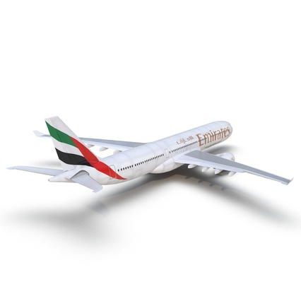 Jet Airliner Airbus A330-300 Emirates Rigged. Render 24