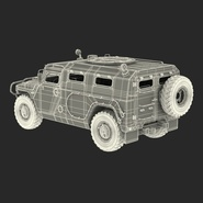 Russian Mobility Vehicle GAZ Tigr M Rigged. Preview 74