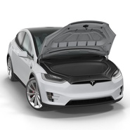 Tesla Model X Rigged. Preview 20