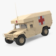 Ambulance Car HMMWV m997 Desert