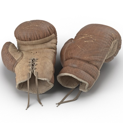 Old Leather Boxing Glove(1). Render 4