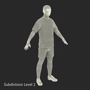 Soccer Player Rigged for Maya. Preview 39