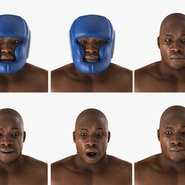 African American Boxer Rigged for Cinema 4D. Preview 7