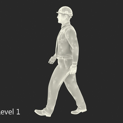 Construction Engineer in Hardhat Standing Pose. Render 18