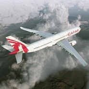 Jet Airliner Airbus A330-300 Qatar Rigged. Preview 9