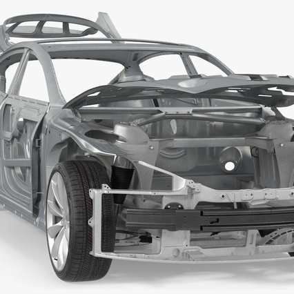 Tesla Model S Frame and Chassis. Render 14